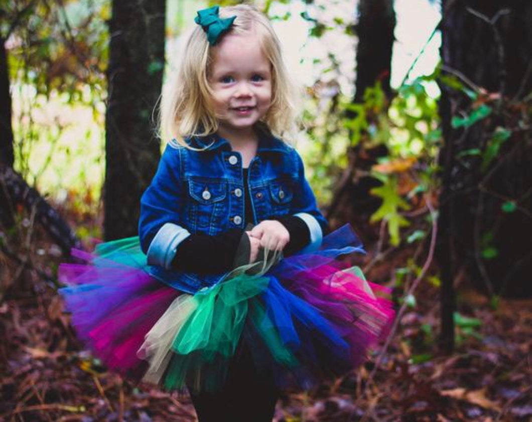 Dark Unicorn Tutu Skirt, Rainbow