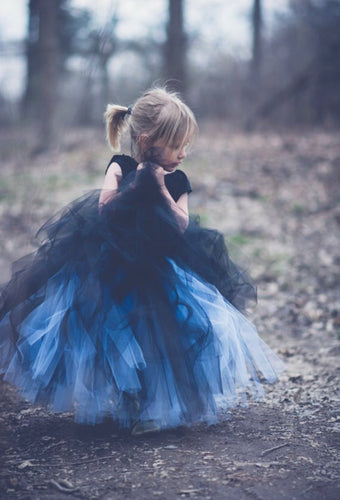 Double Layer Black Over Copenhagen Tutu