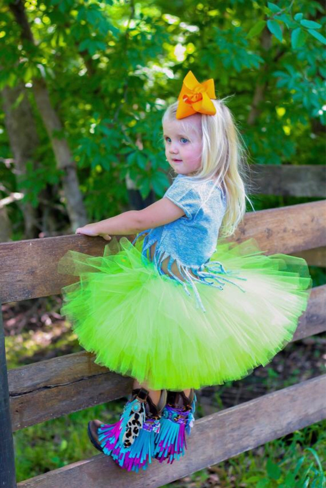 Apple Green Tutu Skirt