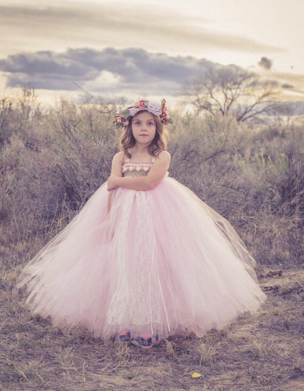 Pom Tutu Dress, Flower Girl Dress