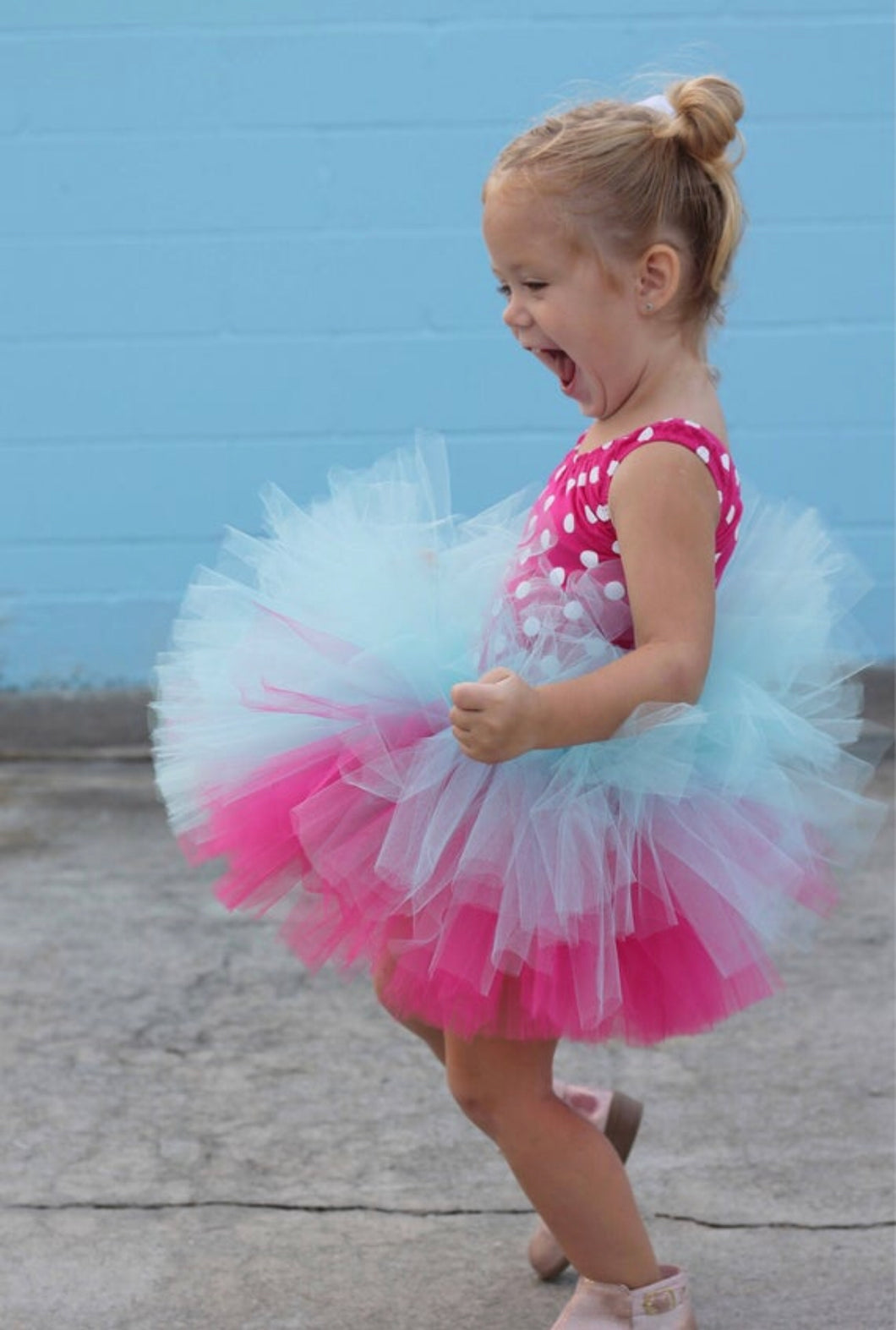 Double Layer Fuchsia And Aqua Tutu