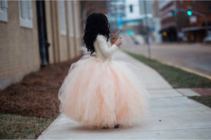 Two Toned Beige Over Peach Tutu
