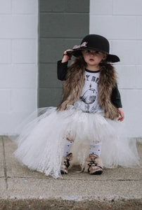 Ivory Lace Hi Low Tutu, High Low Tutu