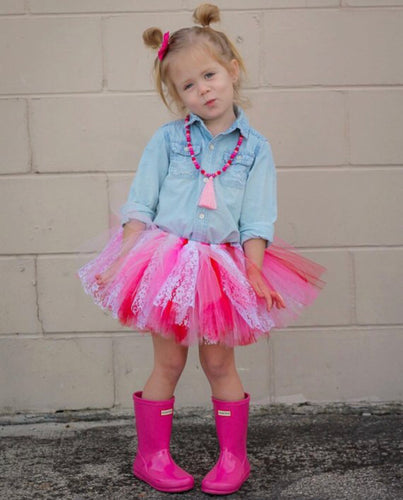 My True Valentine Lace Accent Tutu, Valentines Day Tutu