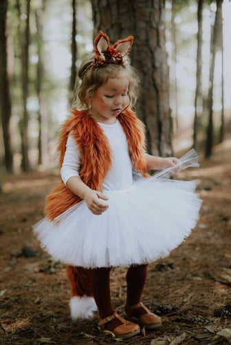 White Tutu Skirt, Fox Tutu