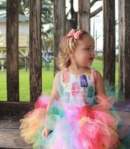 Watercolor Popsicle Tutu Skirt, Rainbow Tutu