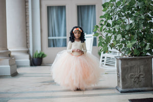 Double Layer Beige Over Peach Tutu