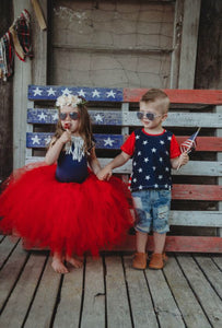 Red Tutu Skirt, Fourth Of July Tutu