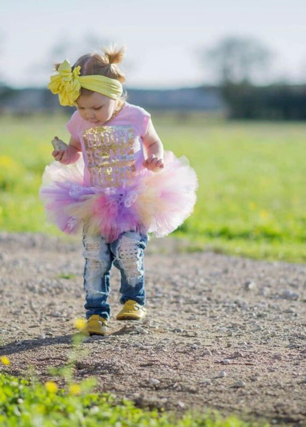 Spring Sunset Lace Accent Tutu