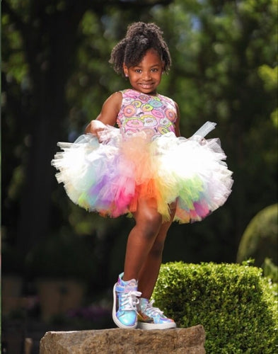 Double Layer Pastel Neon Rainbow Tutu