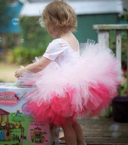 Double Layer Fuchsia And Light Pink Valentine Tutu