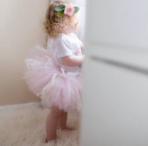 Light Pink Lace Accent Tutu