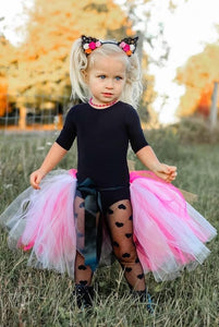 Neon Kitty Waist Cape, Open Front Tutu