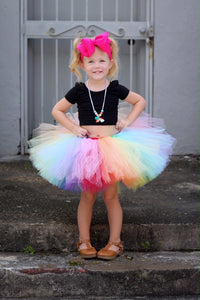 Double Layer Bright Rainbow Tutu