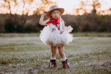Cowgirls Christmas Double Layer Beige Over Shimmer Gold Tutu