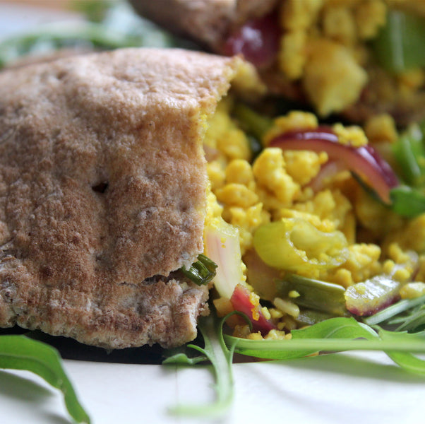 Scrambled Tofu Pitta Pocket
