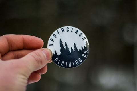 Upperclass Trees Transparent Sticker