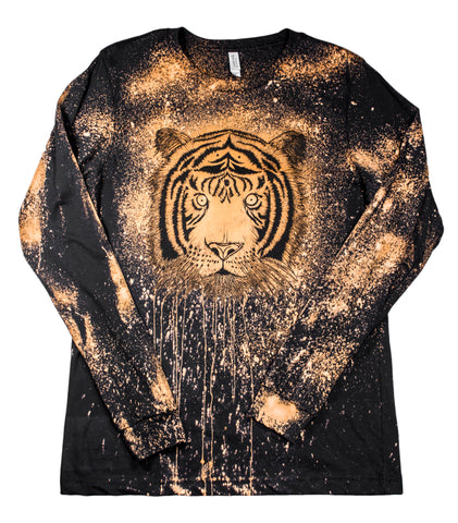 """Bleachy Tiger"" Woodcut Long Sleeve"
