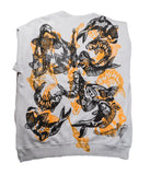 """Koi Pond"" Woodcut Printed Sweatshirt - Large"