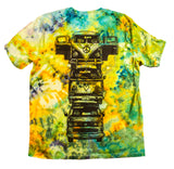 """Bus Totem"" Woodcut Tie-Dye - Large"