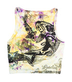 """Koi Pond"" Tie-Dyed Crop Top - Medium"