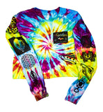 Ancient Aliens Tie-Dye Long Sleeve Crop Top - Medium