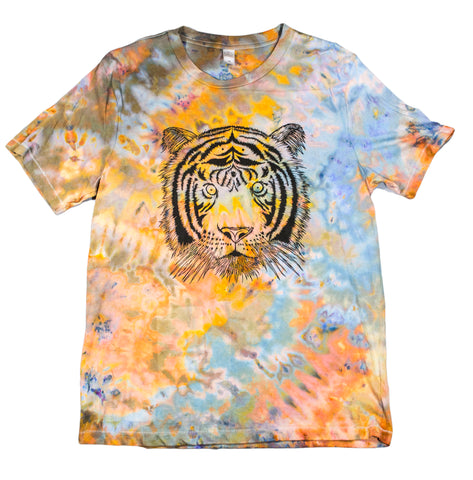 """Tiger"" Woodcut Tie-Dye - Medium"