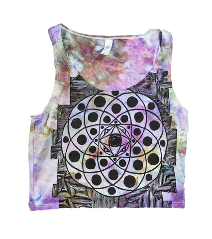 Sacred Technology Crop Tank Tie-Dye