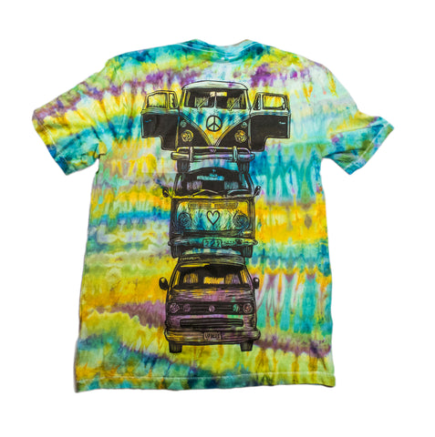 """Bus Totem"" Woodcut Tie-Dye - Small"