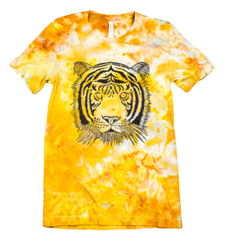 """Tiger"" Woodcut Tie-Dye - Small"
