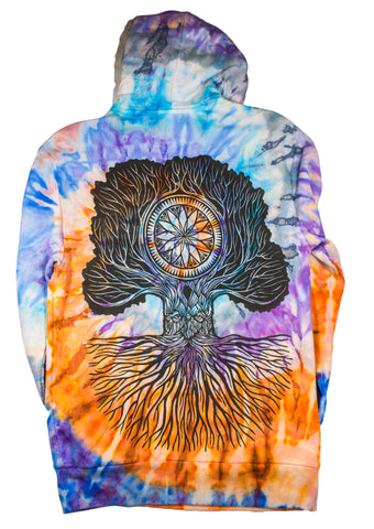 """Merlin Tree of Life"" Woodcut Hoodie - Small"