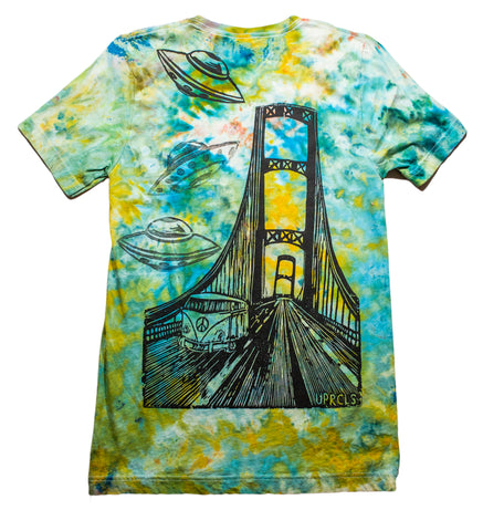 """Mackinac Abduction"" Woodcut Tie-Dye - Small"