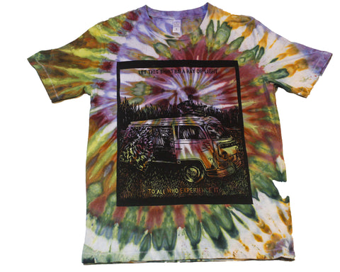"""Ray of Light"" Woodcut Tie-Dye - Small"