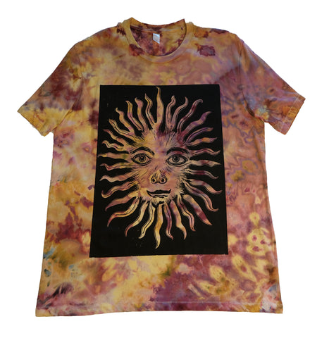 """The Sun"" Woodcut Tie-Dye - Large"