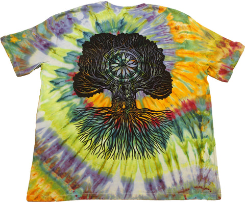 """Merlin Tree of Life"" Woodcut Tie-Dye - XXL"