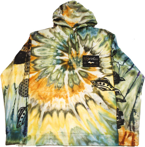 Ancient Aliens Tie-Dyed Hoodie - XL