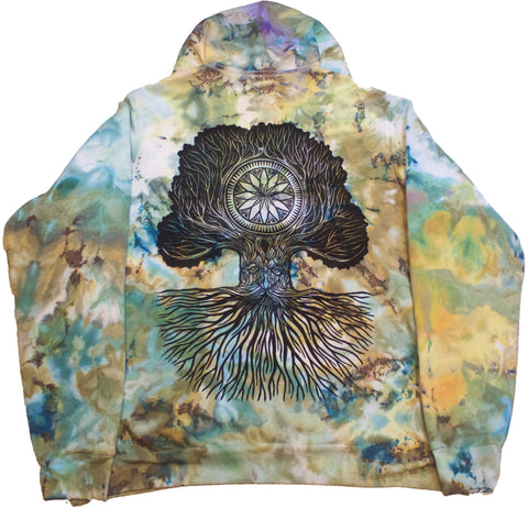 """Merlin Tree of Life"" Woodcut Hoodie - XXL"