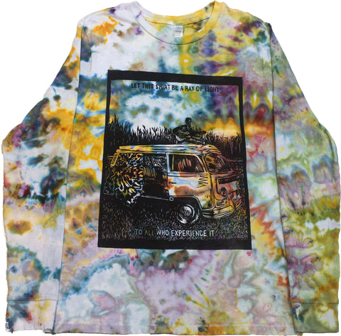 """Ray of Light"" Tie-Dye Long Sleeve - Large"
