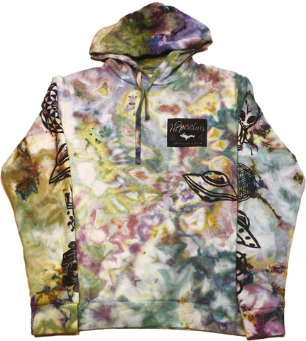 Ancient Aliens Tie-Dyed Hoodie - Medium