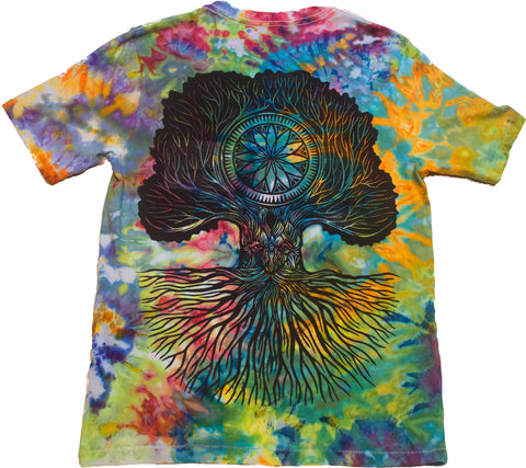 """Merlin Tree of Life"" Woodcut Tie-Dye - Small"