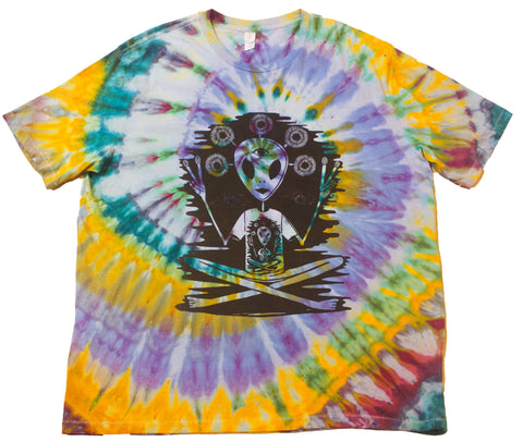 """Alien Acquaintance"" Woodcut Tie-Dye - XXL"