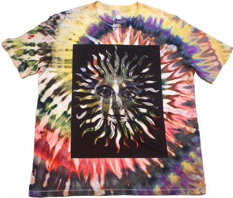 """The Sun"" Woodcut Tie-Dye - XL"
