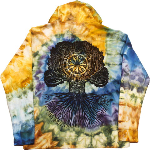 """Merlin Tree of Life"" Woodcut Hoodie - XL"