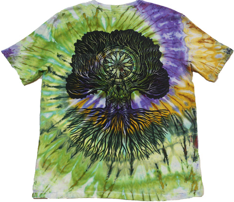 """Merlin Tree of Life"" Woodcut Tie-Dye - Large"
