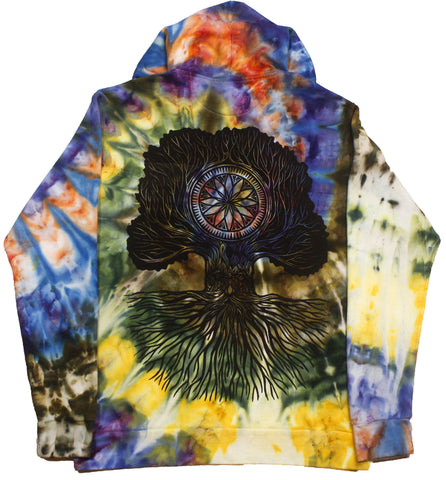 """Merlin Tree of Life"" Woodcut Hoodie - Large"