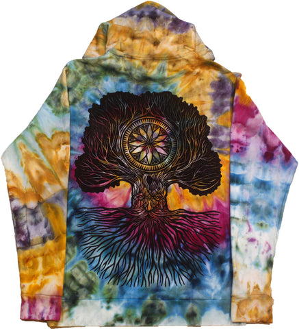 """Merlin Tree of Life"" Woodcut Hoodie - Medium"
