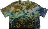 """Mushroom Garden"" Tie-Dyed Crop Top - Medium"