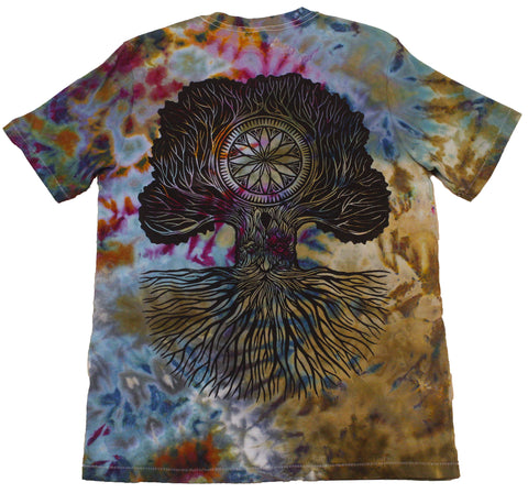 """Merlin Tree of Life"" Woodcut Tie-Dye - Medium"