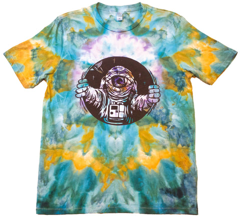 """Astro Luna"" Woodcut Tie-Dye - Medium"