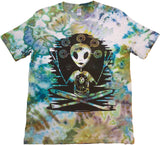 """Alien Acquaintance"" Woodcut Tie-Dye - Small"